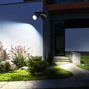 14Leds exterior Motion Sensor rotativo Lâmpada solar à prova d'água Energia Solar Carga Garden Wall Light Double-End Solar Luzes CRESTECH