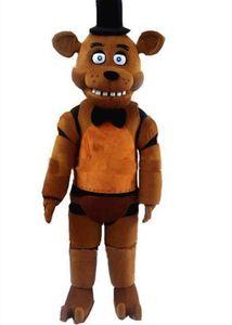 Freddy'nin FNAF Freddy Fazbear Maskot Kostüm Karikatür Maskot Custom'deki 2019Discount fabrika satış Beş Gece