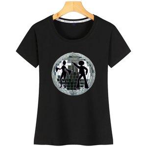 Disco-Partei-Frauen-T-Shirt aus Baumwolle Interessant Comical Printed