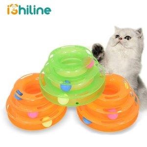Spielzeug Drei Spielzeug Disc Level Track Cat Platte Pet Disc Intelligenz Triple-Training Cat Cat Amusement Amusement Turmkugel zu homes2011