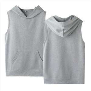Womens Hoodies Pullover Crop Top Sleeveless Hooded Solid Cotton High Quality Plus Size Sweatshirt XXS 4XL Ladies Shirt