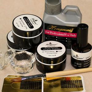 Manucure DIY Basic Starter Kit Poudre acrylique liquide Pinceau NO.8 stylo pour la pratique 3D Nail Art Ensemble complet NA648