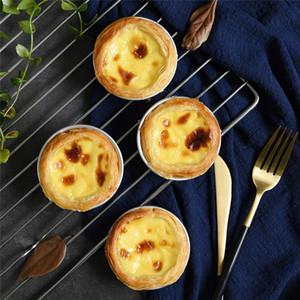 계란 타트 금형 베이킹 금형 홈 메이드 파이 치즈 베이킹 쿠키 푸딩 금형 알루미늄 합금 DIY 도구 CCA3161