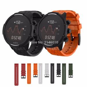 Silicone Replacement 24mm Watch Band Wrist Strap Bracelet for Suunto 9 and Suunto Spartan Sport Wrist HR Baro Smartwatch