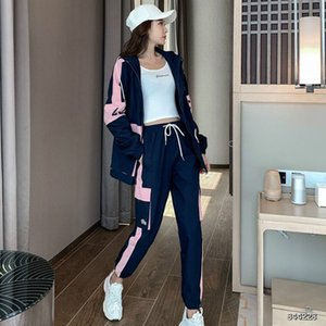 20FW Women's Tracksuits Fashion Autumn Running Sports Two-piece Suit Trend Letter Printing Womens Tracksuits 3 Colors Asian Size S-2XL