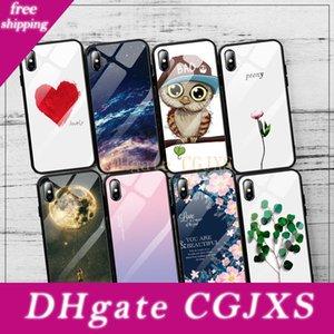 Ausgeglichenes Glas-Telefon-Kästen für Iphone 8 7 6 6s Plus X Xs Max Xr Anti -Knock Scenery Glasschutzhülle für iPhone 7 Fall