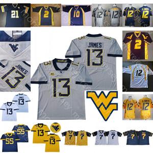 Özel Batı Virginia Mountainers WVU Futbol Jersey NCAA Koleji Geno Smith Andrew Buie Karl Joseph Bailey Tavon Austin Irvin Beyaz Jones
