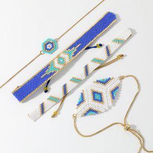 SHINUSBOHO 독특한 팔찌를 들어 여성 MIYUKI 악마의 눈 팔찌 2020 Pulseras Mujer 모다 행운의 3D 아이 멕시코 Jewellry 선물