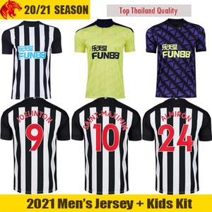 20 21 Newcastle United Fußballtrikots JOELINTON SHELVEY 2020 2021 NUFC ALMIRON SAINT-MAXIMIN Fußballtrikot GAYLE Herren Trikot Kids Kit