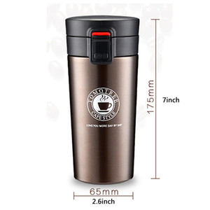 Coffee Mug Thermos Cup 13oz Stainless Steel Water Bottle Double Wall Tumbler Vacuum Insulated Water Bottles With Bounce Lid Car BH1383 BC