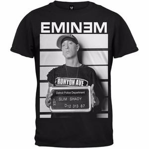 Мужчины Повседневная мода рубашка Дешевые Мужчины Футболка Eminem Мужские Mugshot Футболка Lanshitina Exclusive