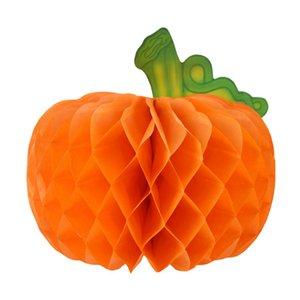 Paper Pumpkin Decorations-Halloween Thanksgiving Table Orange Pumpkin Decoration Pendant Honeycomb Ball Pumpkin Decoration Paper Honeycomb B