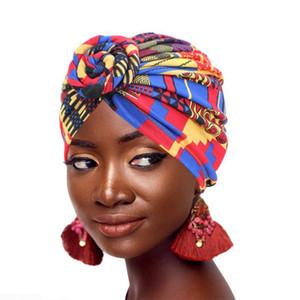 Kadınlar Geometrik Desen Çiçek Turban Müslüman Turban Moda Başörtüsü Headwrap Bayanlar Kemo Cap bandanas Saç Aksesuarları