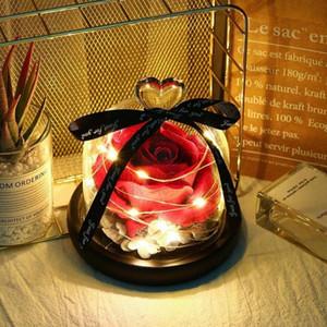 Ewige Exclusive Rose in Glaskuppel Die Schönheit und Tier Rose Romantische Valentinstag Geschenke Christmas' Gift Holiday Presents YS4A #