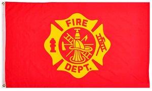 il prezzo di fabbrica consegna 3 da 5 ft poliestere Stati Uniti d'America Fire Fighter Pompiere Flag