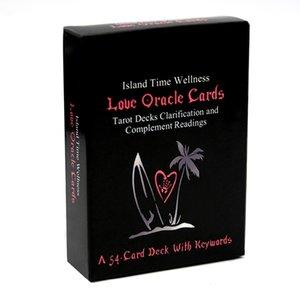 54pcs Island Time Wellness Aşk Oracle Kartları Tarot Güverte açıklama ve Anahtar Kelimeler Oyuncak Oyunlar Tamamlayıcı Okumaları Kart Güverte