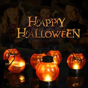 # H40 Halloween Teelichter 6PCS Kürbis Lichter Kürbis LED-Leuchten Kürbis Dekor Weihnachten Thanksgiving Day Dekor Teelichter Lichter