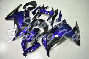 Verkleidungs-Kits für EX 300 Ninja 2013-2017 Blau Schwarz Abs Verkleidungs Zx300r 15 16 Fairings EX300 15 16