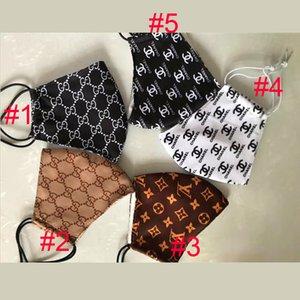 5 Style Fashion Paris anzeigen Luxus Designer-Gesichtsmaske für Mann und Frauen Liebhaber Imported Cloth Reuse Anti-Staub-Schutz Top-Qualität Masken