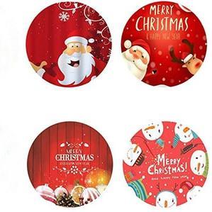 Araba Ana Dekorasyon Çoklu Renkler EEA1924 için Neopren İçecek Coaster Noel Kahve Mug Şişe Mats Yumuşak Yuvarlak Kupası Coaster