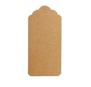 9 * 4,5 см Коричневый Белый гребешка Blank картотечная ценник, Ханг тег ретро подарков Ханг тег, место