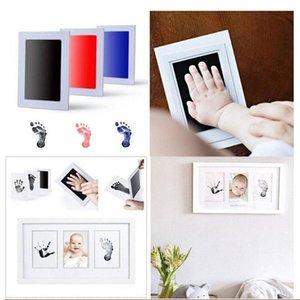 الحبر الوسادة إطار الصورة للطفولة اليد القدم يطبع الطفل إطار الصورة بصمات الأصابع الأطفال الديكور الطفل النمو التذكارية هدية