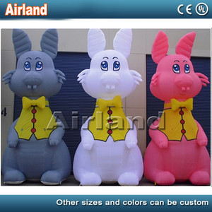 Hot sale giant animated inflatable easter bunny inflatable led rabbit for outdoor events decoration
