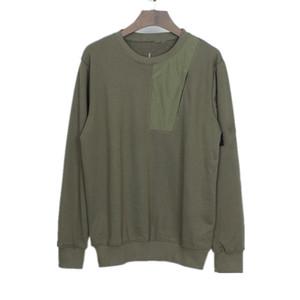 Topstoney Jumper 2020FW Konng Gonng Primavera y otoño New Basic Men Sweater Moda Trend Marca Transmisión Camisa Jersey Pocket Nylon Pocket