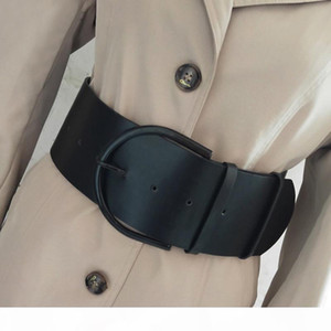A Fashion Classic Round Buckle Ladies Wide Leather Belt Women &#039 ;S Design High Quality Female Casual Leather Belts For Coat D070816