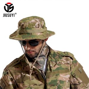 Multicam Tactical Sniper Camouflage Bucket Boonie Hats Nepalese Cap SWAT Army Panama Accessories Summer Men