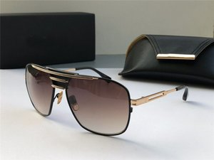 New sunglasses men design metal vintage fashion style square frame top quality UV 400 lens outdoor eyewear with case