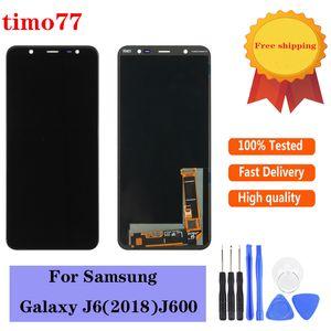 Süper ücretsiz araçlar Dokunmatik Ekran Digitizer Meclisi Değiştirilmesi Samsung Galaxy J6 2018 J600 J600F J600Y LCD Ekran için OLED.