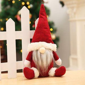 US Stock 10 pcs Buffalo Christmas Dolls Figurines Handmade Christmas Gnome Faceless Plush Toys Gifts Ornaments Kids Xmas Decoration FY7177