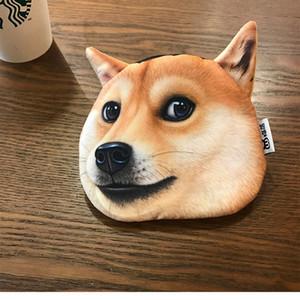 Dix yuans magasinent portefeuille portefeuille chien doge ennuyeux porte-monnaie husky mini porte-monnaie créative