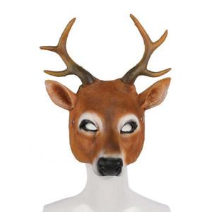 Maschere chrisrmas Xmas Party PU Milu dei cervi Forma maschera di Halloween del partito della mascherina del partito WY830 all'ingrosso