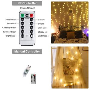 LED Window Curtain String Light 300 LED Light String 9.8ft x 9.8ft 8 Modes Fairy Lights for Indoor Outdoor Wedding Christmas