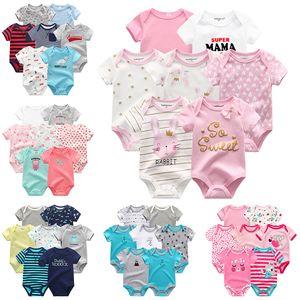 Fetchmous Yenidoğan Romper Giyim 7pcs / Pamuk Tulumlar roupas de bebe Kız Erkek Giyim baobao Bebek Pijama Y200803 setleri