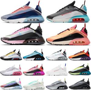 Neue 2090 Laufschuhe Herren Turnschuhe Damen Chaussures Gebleicht Aqua Pure Platin Laser Blau Rosa Schaum Wolf Grau Turnschuhe Outdoor Schuhe