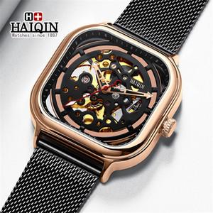 Haiqin 2020 nouveaux hommes Montres Top Montre Mécanique Automatique Hommes Mode Casual étanche Horloge Relogio Masculino