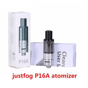 Authentique Justfog P16A Atomiseur Bottom E Cigarette Vape Remplissage du réservoir avec du coton organique bobine 510 fil 100% Original DHL