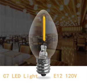 C7 0.5W Duman Cam Işık E12 LED Filament Mumluk Ampüller Gece Ampul Doğal Işık 4000K 5 Watt Eşdeğer Led lambalar