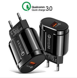 Cgjxsreal Quick Charge 3 +0,0 5v 3 Единый порт зарядки США Plug Europe Travel Phone Charger Black White