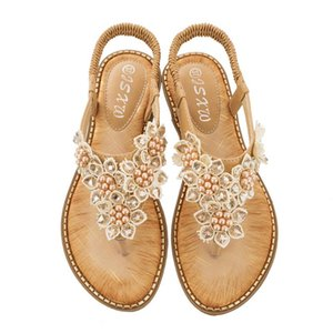 Women Sandals 2020 New Women Summer Sandals Flat Bohemia Shoes Female Flat Rome Style Flip Flops Shoes