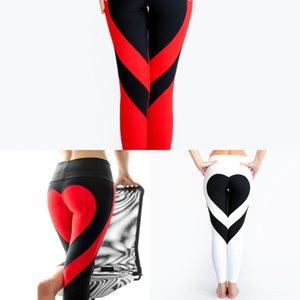 Bundas costura coração pêssego dUNLy BM7Ar quadril magro ioga alta pêssego cintura calças hip-costura cintura calças slim coração leggings