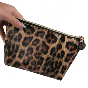 Square Fashion Leopard Leopard Toiletry Makeup Print Bag Case Cosmetic Portable Pouch 1Pc Organizer For Travel Cosmetic Bag Kbsxs