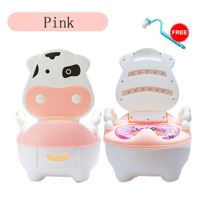 Portable For Training Toilet Seat Baby Potty Infant Cow Comfortable Backrest Children Cartoon Cute Pot