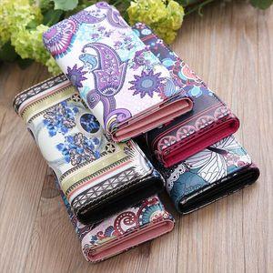 Women Durable PU Leather Long Purse Fashion Printing Card Holder Coin Bag Wallet Handbag 20 x 8CM