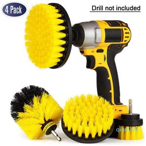 4 pezzi Drill Drill corredo della spazzola spazzola di potere Scrubber vasca da bagno spazzola di pulizia Scrub Drill Kit di pulizia