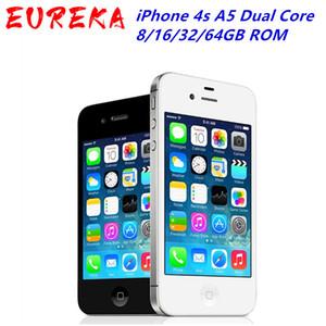Unlocked iPhone 4s A5 Dual Core 3,5 Zoll 16.08 / 32 / 64GB ROM GSM Kamera 8MP WIFI GPS IOS Handy