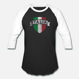 Italia Imprimir italiana de futebol Jersey Vintage t shirt homens personalizado camisa de algodão Euro Tamanho S-3XL roupas soltas Estilo Verão New Style